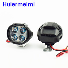 2 PCS Motorcycle Led Headlight HeadLamps 1000Lm Scooter Fog Spotlight 6500K White Motorbike Working Spot Head Light Lamp 12V 24V