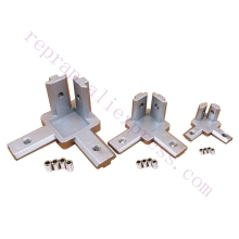 4pcs 2020 3030 4040 T Slot Aluminum Profile 3-way 90 deg inside corner bracket Interior Connector f/ Alu-profile 3D printer