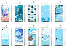 Mobile Phone Case Wholesale 10pcs/lot Whale Design White Hard Back Case For IPHONE4 4S Cases