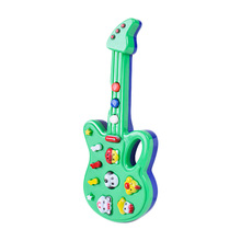 Color Random Cute Cartoon Guitar Animal Electronic Guitar Toy Nursery Rhyme Music Children Baby Gift Toy Guitar Instrument(China)