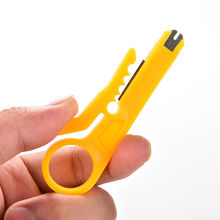 5PCS High Quality Portable Mini Strippers Network Cable Plier Yellow Utp/STP Cable Cutter Stripper