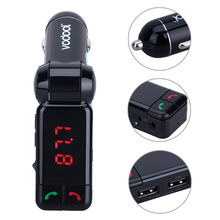 BC06 LED Digital Wireless Bluetooth Fm Transmitter Modulator Handsfree FM Radio Stereo Adapter 2.1A Dual USB Port Car Charger