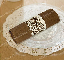 50pcs Hot Sales Wedding party Decorations Laser Cut Paper Craft Napkin Rings for Wedding Free Shipping