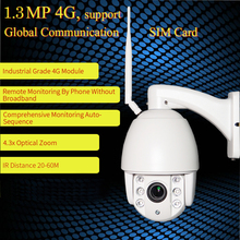 ZILNK Speed Dome Camera PTZ 960P HD 3G/4G/WIFI P2P Network 5x Zoom Lens IR Night Outdoor Security Camera