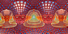 "Alex Grey 48""x24"" 25""x13"" Trippy Alex Grey Wall Poster Print Home Decor Wall Stickers poster Decal--15(China)"