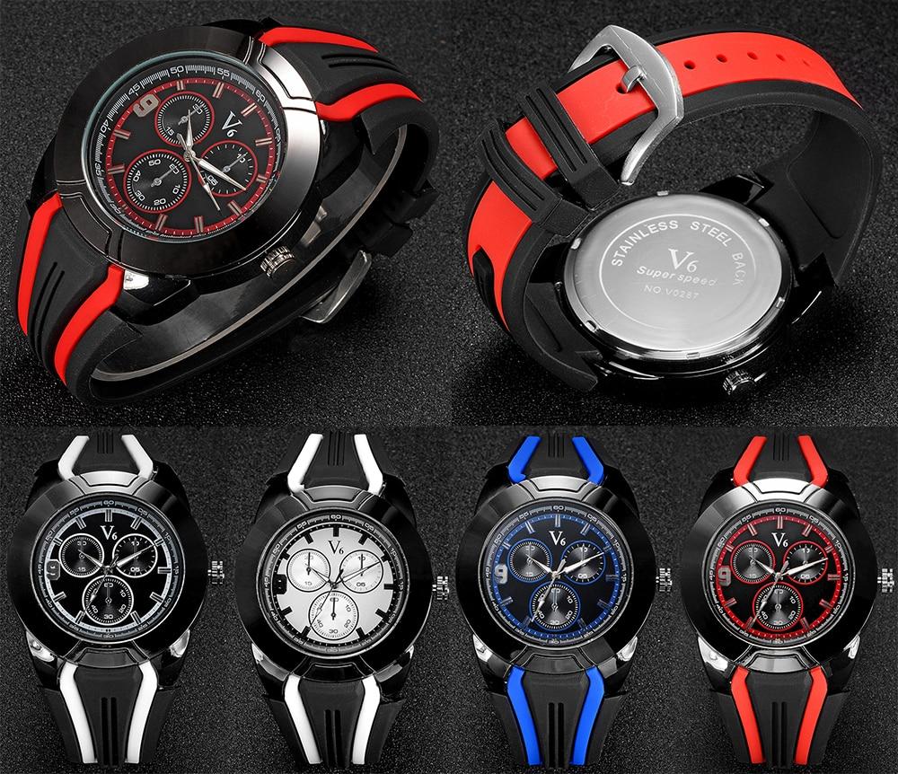 2017 Men Fashion Watch Silicone Band Sport Outdoor Analog Ladies Classic Quartz Business Wristwatch