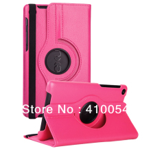 3 in 1 High Quality 360 Degree Stand PU Leather Case for For ASUS Google Nexus 7 2nd 2 Gen 2013+screen film+stylus