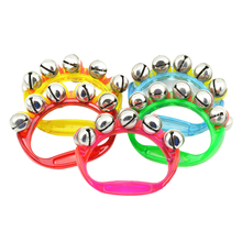 1pcs Plastic Rhythm Band Wrist Bells Baby Kids Musical Instrument Toy - Random Color