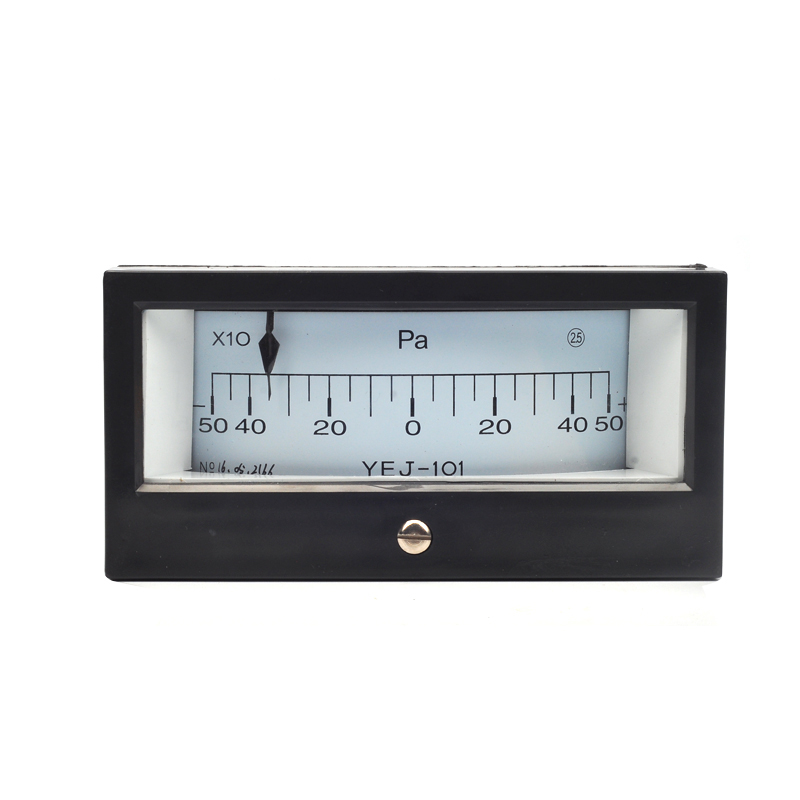 YEJ-101 -500~500PA Square Diaphragm Pressure Gauge Film Box Pressure Gauge Square Pressure gauge Positive and Negative 500Pa<br>