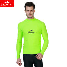 SBART Rashguard for Men UPF 50+ Long Sleeve Rash Guard Swimsuit Shirt Men Rashguard Swim Shirts Anti-UV Windsurf Wetsuit Tops J