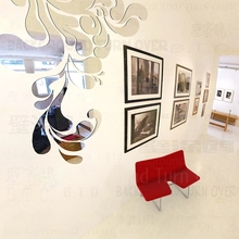 New design DIY sea spray style acrylic mirror wall sticker living room large flower wall decals best decoration of home R214(China)