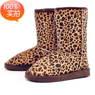 New arrival fashion winter print high Leopard  boots warm flat heels solid snow boots buskin womens boots shoes<br><br>Aliexpress