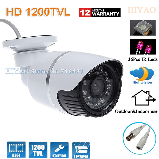 HD Video Surveillance Waterproof Bullet CCTV Camera 1200tvl CMOS Sensor Outdoor Home Security Camera<br>