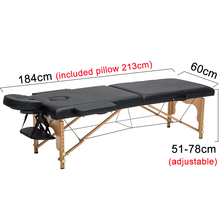60cm Portable Tattoo Massage Tables Black Wooden Folding Furniture With Carring Bag Salon SPA Beauty Adjustable Face Cradle Bed(China)