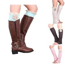 Amazing Women Stretch  Boot Leg Cuffs Boot Lady Winter Knitted Crochet Socks Leg Boots Warmer Cover Leggings Free shipping