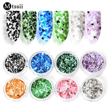 Mtssii Sequin Nail Art Paillette Irregular Flake Nail Decoration Marble Powder Frosting Sugar Sand Nail Dust paillette en poudre(China)