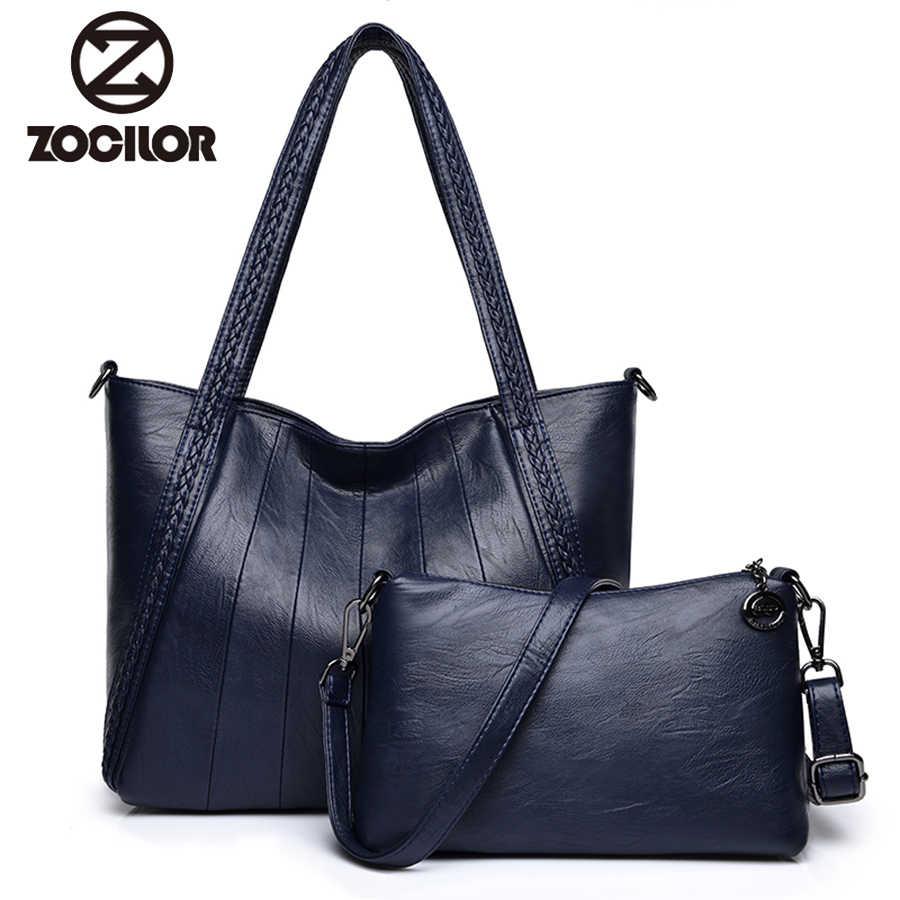 e059ebb6470e Роскошные два комплекта сумки женские сумки дизайнерские ПУ кожаные сумочки  сумки для женщин 2018 большая ручная