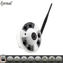 Fisheye ip camera wifi IP Camera Audio Full View Wide Angle 180 Degree 1080P SONY IMX323 IP Camera P2P Onvif Security camera(China)