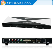 3 in 1 HDMI DVI Ypbpr component to HDMI converter Switcher with toslink audio in&out+remote control