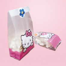 50pcs/lot Cute Hello Cat Rabbit Cookie Bread bag Gift Candy Package Cellphone Bags Jewelry bags Send children baking gift