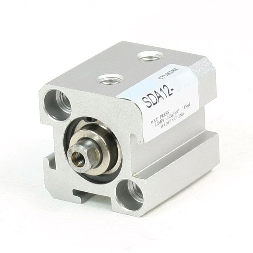 1 Pcs 12mm Bore 20mm Stroke Stainless steel Pneumatic Air Cylinder SDA12-25<br><br>Aliexpress