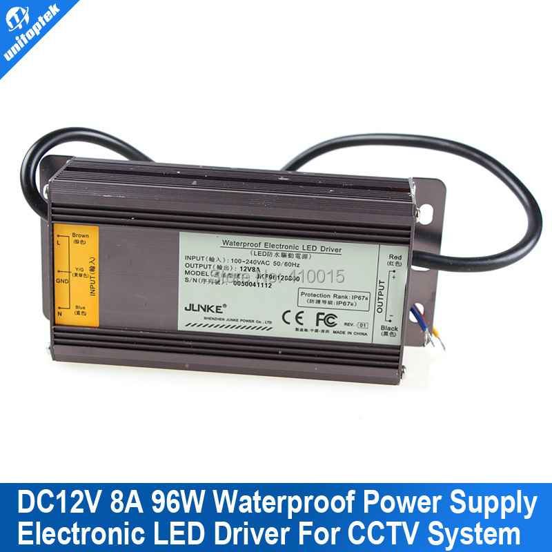 110V-240V To 12V 96W/8A Waterproof Electronic LED Driver DVR Camera CCTV Power Supply Transformer Adapter<br><br>Aliexpress