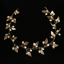 Hot Wedding headband new headdress retro bridal headdress gold and silver alloy crystal wreath handmade metal crystal hair band(China)