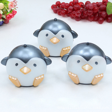 Jumbo Squishy Shinny Penguin Kawaii Animal Slow Rising Sweet Scented Vent Phone Strap Charms Bread Cake Kid Toy Doll Gift P15(China)