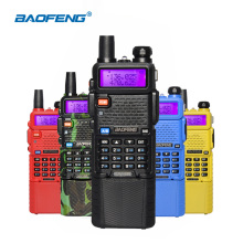 Baofeng UV-5R 5W Walkie Talkies UV 5R Portable Two Way Radio Ham CB Radio uv-5r 3800mAh Dual Band UHF 400-520MHz VHF 136-174MHz(China)