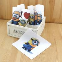 Hand dyed 6 Assorted Cotton Linen Printed Quilt Fabric For DIY Sewing Patchwork Home Textile Decor 15*15cm Minions