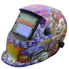 Purple Solar Energy Good Quality Light Weight Shade 9-13 Darkening Welding Helmet TRQ-HD03 with 2200de