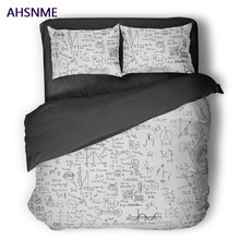 AHSNME School College GEEK Quilt cover Set Physical Mathematical Formula Bedding Set Circuit Diagram Customized King Bed Set(China)