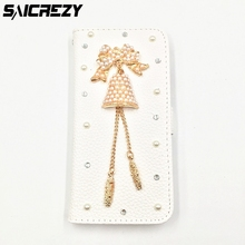 Christmas Gifts 3D Bling Crystal POP diamond DIY Leather Case for Samsung Galaxy Note 2 3 4 5 8 Phone Bags cover
