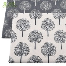 Chainho Printed Cotton Linen Fabric For Patchwork Quilting/DIY Sewing/Sofa Table Cloth/Furniture Cover Tissue/Cushion Material(China)