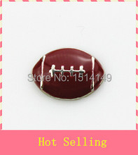 Hot selling football floating charm living glass floating memory charms