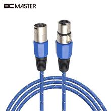 BCMaster 1m/1.8m/3m XLR Male to Female Plug Dual Core Microphone Mic Audio Extension Cable Lead Line M/F