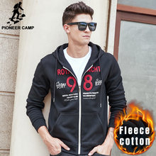 Pioneer Camp thick hoodie sweatshirts men brand clothing autumn winter warm hoodies men top quality zipper fleece hoodies 622167