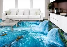 3d stereoscopic floor wallpaper Ocean World 3d flooring HD custom vinyl 3d floor landscape wallpaper(China)