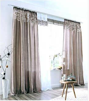 140cmW top-quality white brown green beige color silk-like blind curtains for living room,decoration panel semi shade curtain