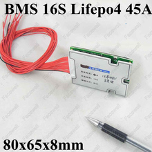 16s high quality 48v lifepo4 BMS 48v 45A discharge electric bike battery protection board 48v PCM with balance function(China)
