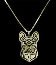 Unique Handmade Boho Chic French Bulldog Necklace Female and Male Gift Jewelry Necklace--12pcs/Lot(6 Colors Free Choice)(China)