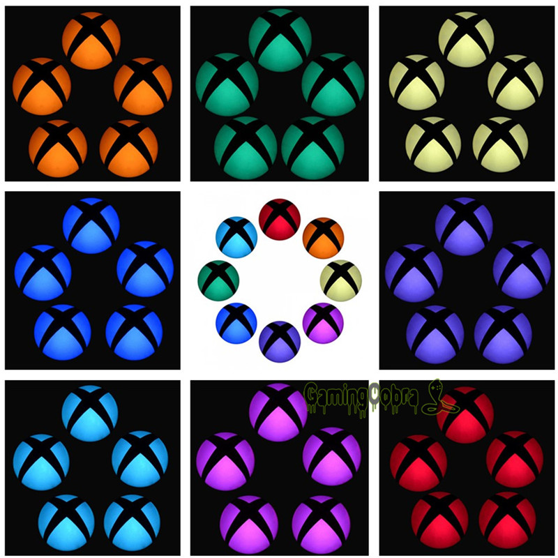 Logo Power Button Wrap Stickers LED Color Change Skin Cover for Xbox One Console title=