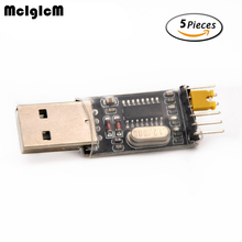 MCIGICM 5pcs USB to TTL converter UART module CH340G CH340 3.3V 5V switch(China)