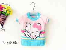 2017 Kids sweater hello kitty jacket girls sweater Children factory direct wholesale kids cardigan outwear toddler baby clothes