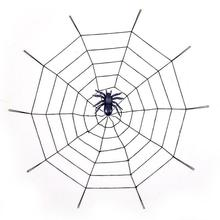Giant Huge Halloween Spooky Spiders Webbing Web Decorations Creative Scary Party Decoration