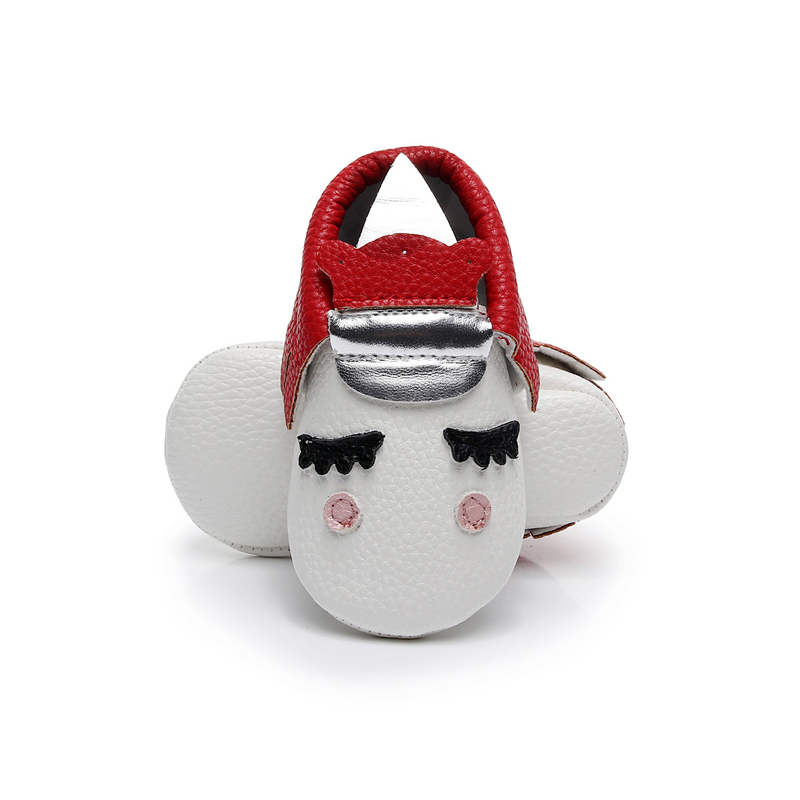 aaaaa Baby Girl Crib Shoes Toddler Newborn Infant Kids Soft Sole PU Leather Tassel Shy Face Moccasin