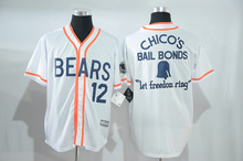 Baseball Jersey Bad News Bears #12 Tanner Boyle Stitched Numbers Cheap Throwback Short Sleevele Hotsale Movie Jerseys(China)