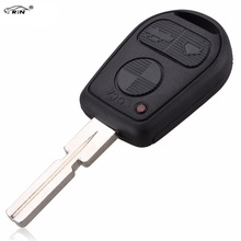 RIN 3 Button Car Key Replacement Remote Key Case Shell for BMW E31 E32 E34 E36 E38 E39 E46 Z3 Fob Uncut Blade Key Case