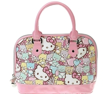 Hello Kitty - the new cartoon lovely ladies handbag Two color pink and red rose can choose