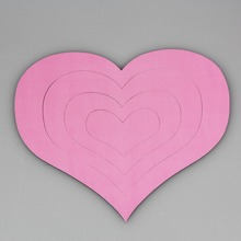 Cute soft magnetic pink colour heart photo frame and picture frame DIY album for the wall of marcos de fotos porta retrato(China)